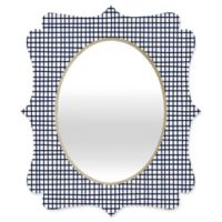 Deny Designs® Holli Zollinger 29-Inch x 22-Inch Oval Cross Lines Mirror in Black/White