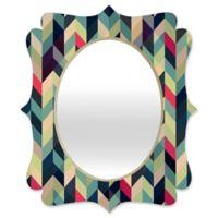 Deny Designs® Gabi 29-Inch x 22-Inch Oval Arise Quatrefoil Mirror