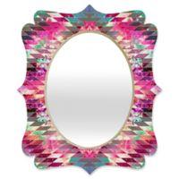 Deny Designs® Bianca Green 29-Inch x 22-Inch Oval Ancient Star Quatrefoil Mirror