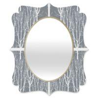 Deny Designs® Karen Harris 29-Inch x 22-Inch Looking Out Quatrefoil Mirror in Ash