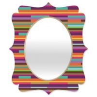 Deny Designs® Juliana Curi 29-Inch x 22-Inch Oval Color Stripes Quatrefoil Mirror
