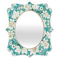Deny Designs® Juliana Curi 29-Inch x 22-Inch Oval Classic Quatrefoil Mirror in Turquoise