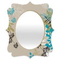 Deny Designs® Juliana Curi 29-Inch x 22-Inch Oval Natural Leaves Quatrefoil Mirror