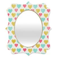 Deny Designs® Allyson Johnson 29-Inch x 22-Inch Oval Love You All My Heart Mirror