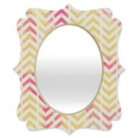 Deny Designs® Allyson Johnson 29-Inch x 22-Inch Oval My Favorite Chevron Mirror