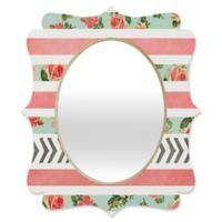 Deny Designs® Allyson Johnson 19-Inch x 14-Inch Oval Floral Stripes/Arrows Mirror