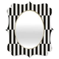 Deny Designs® Bianca Green 29-Inch x 22-Inch Oval Order Quatrefoil Mirror in Black/White
