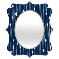 Deny Designs® Heather Dutton 29-Inch x 22-Inch Oval Entangled Quatrefoil Mirror in Navy