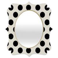 Deny Designs® Allyson Johnson 19-Inch x 14-Inch Oval Classiest Cream Mirror in Black/White