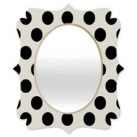 Deny Designs® Allyson Johnson 29-Inch x 22-Inch Oval Classiest Cream Mirror in Black/White