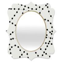 Deny Designs® Heather Dutton 19-Inch x 14-Inch Oval Dash and Dot Quatrefoil Mirror in Neapolitan