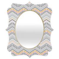 Deny Designs® Lisa Argyropoulos 19-Inch x 14-Inch Oval Steely Greys Quatrefoil Mirror in Grey