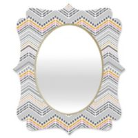 Deny Designs® Lisa Argyropoulos 29-Inch x 22-Inch Oval Steely Greys Quatrefoil Mirror in Grey