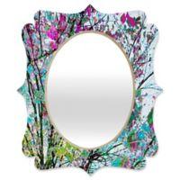 Deny Designs® Juliana Curi 29-Inch x 22-Inch Oval Klein Blue Flower Quatrefoil Mirror