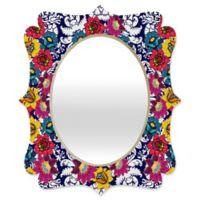 Deny Designs® Hello Twiggs 29-Inch x 22-Inch Oval Pastel Bubbles Quatrefoil Mirror