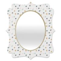 Deny Designs® Rosie Brown 19-Inch x 14-Inch Oval Pastel Bubbles Quatrefoil Mirror
