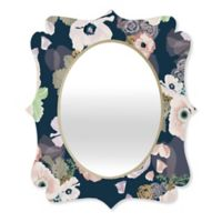 Deny Designs® Khristian A. Howell 29-Inch x 22-Inch Oval Une Femme Quatrefoil Mirror in Blue
