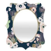Deny Designs® Khristian A. Howell 19-Inch x 14-Inch Oval Une Femme Quatrefoil Mirror in Blue