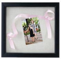 Lawrence Frames Linen-Lined 12-Inch x 12-Inch Shadow Box Frame in Black