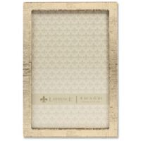 Lawrence Frames Linen Pattern 4-Inch x 6-Inch Metal Picture Frame in Gold
