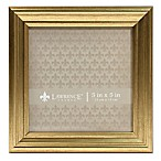 Lawrence Frames Burnished 5-Inch x 5-Inch Picture Frame in Gold