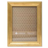 Lawrence Frames Burnished 5-Inch x 7-Inch Picture Frame in Gold