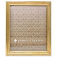 Lawrence Frames Burnished 8-Inch x 10-Inch Picture Frame in Gold