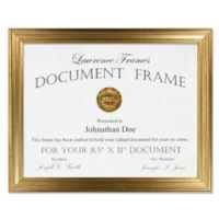 Lawrence Frames Burnished 8-1/2-Inch x 11-Inch Picture Frame in Gold