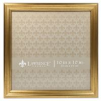 Lawrence Frames Burnished 10-Inch x 10-Inch Picture Frame in Gold