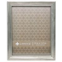 Lawrence Frames Burnished 8-Inch x 10-Inch Picture Frame in Silver