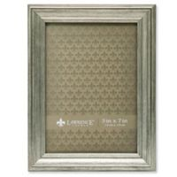Lawrence Frames Burnished 5-Inch x 7-Inch Picture Frame in Silver