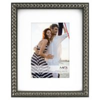 MCS Thin Bead 5-Inch x 7-Inch Matted Frame in Pewter