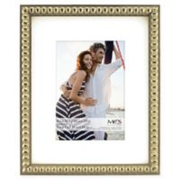 MCS Thin Bead 5-Inch x 7-Inch Matted Frame in Champagne