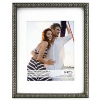 MCS Thin Bead 8-Inch x 10-Inch Matted Frame in Pewter
