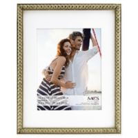 MCS Thin Bead 8-Inch x 10-Inch Matted Frame in Champagne