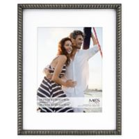 MCS Thin Bead 10-Inch x 13-Inch Matted Frame in Pewter