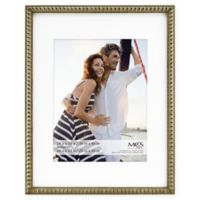 MCS Thin Bead 10-Inch x 13-Inch Matted Frame in Champagne