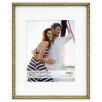 MCS Thin Bead 11-Inch x 14-Inch Matted Frame in Champagne