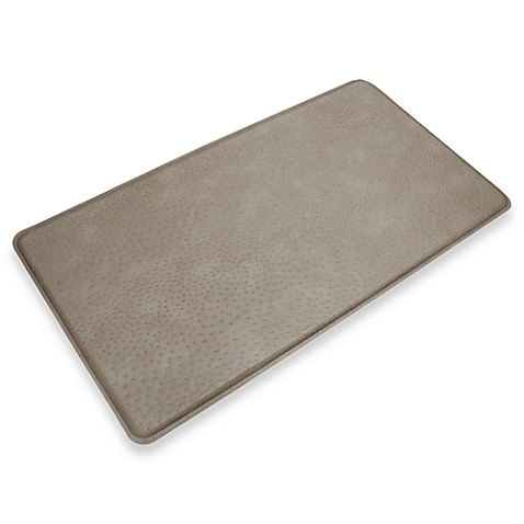 GelPro® Original Gel Filled Anti-Fatigue 1-Foot 8-Inch x 3-Foot Ostrich Mat in Riverbed Grey