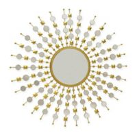 Carolina Chair & Table Co. Payton 12-Inch Round Wall Mirror in Gold