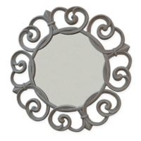 Carolina Chair & Table Co. Audrey 21-Inch Round Wall Mirror in Pewter