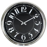 Poolmaster 16-Inch Mod Wall Clock in Black
