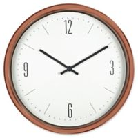 Poolmaster 16-Inch Contemporary Wall Clock in Bronze