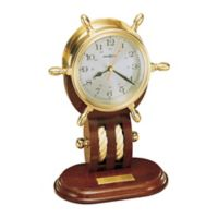 Howard Miller Britannia Tabletop Clock in Polished Brass