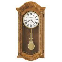 Howard Miller Lambourn II Wall Clock in Golden Oak