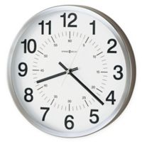 Howard Miller Easton Metal Wall Clock in Spun Nickel