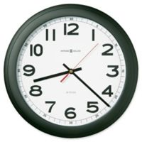 Howard Miller Norcross 12.25-Inch Wall Clock in Black