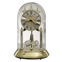 Howard Miller Christina Glass and Brass Tabletop Clock