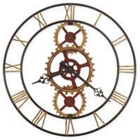 Howard Miller Hannes Wall Clock in Antique Brass