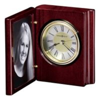 Howard Miller Portrait Book Tabletop Clock in Rosewood